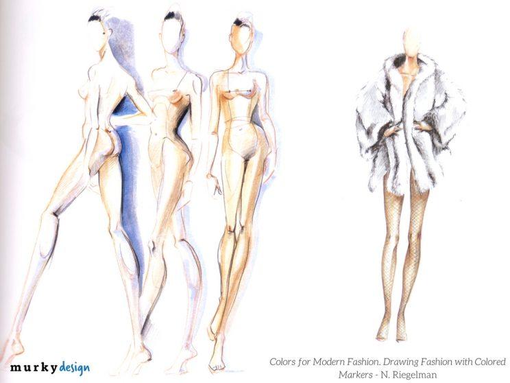 colors of modern fashion rysunek zurnalowy